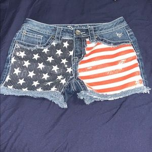 Justice sequence American flag Jean shorts